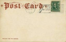 1904年明信片葡萄酒 免版税库存照片