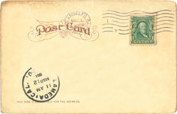 1904年明信片 库存图片