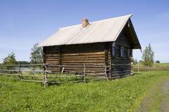 1907个房子kizhi农民俄国 库存照片