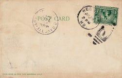 1907古色古香的明信片 免版税库存图片