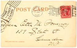 κάρτα του 1907 Στοκ φωτογραφίες με δικαίωμα ελεύθερης χρήσης