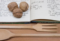 1910s Handwritten Cookbook Stock Image
