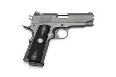 Short 1911 pistol Royalty Free Stock Images