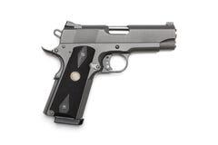 Short 1911 pistol. Tactical 1911 short pistol on a white background. Studio shot Royalty Free Stock Images