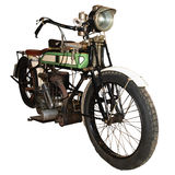 1911 Excelsior Motorbike. Isolated with clipping path Royalty Free Stock Photography