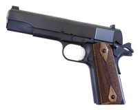 1911 pistol. Handgun that is still in use that was designed in 1911 Royalty Free Stock Photography