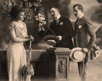 1914年纵向葡萄酒年 库存照片