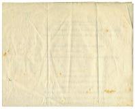 1916古色古香的纸张 图库摄影