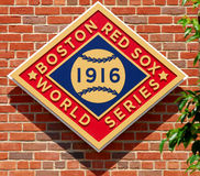 1916年波士顿冠军Red Sox世界 免版税库存照片