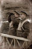 1918 reenacting wwi воинов Стоковая Фотография RF