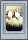 1920古色古香的匿名的框架照片s 免版税库存照片