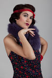 1920 1930 вводят женщину в моду Стоковое Изображение