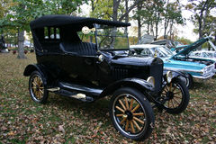 1920 Model T Ford Touring Car. A 1920 Model T Ford Touring Car, four passenger, convertible top Royalty Free Stock Photo