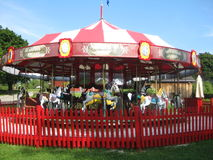 1920's Carousel. A beautiful fully operating vintage 1920's carousel Stock Photography