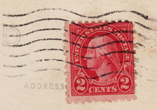 1920's Red Two 2 Cent Stamp Royalty Free Stock Photos