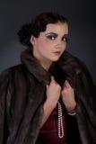 1920s retrowoman Стоковая Фотография RF