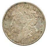 1921 dollar silver Arkivfoton