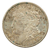 1921 silberner Dollar Stockfotos