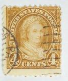 1922年马莎印花税华盛顿 免版税图库摄影