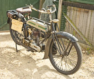 1922 vintage Triumph Motor bike. Royalty Free Stock Image