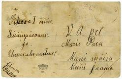 1924年明信片葡萄酒 免版税库存照片