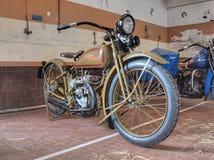 1926 350cc磁道唯一davidson的harley 库存照片