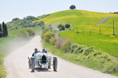 A 1926 blue Bugatti Type 35A at 1000 Miglia Royalty Free Stock Image