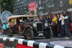 1928 Fiat 520 bij het begin van 2012 1000 Miglia Stock Afbeelding