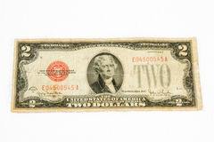 1928 United States two dollar bill. Currency stock image