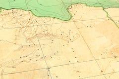 1929年老利比亚映射 库存图片