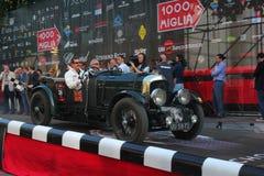 1929 Bentley 4.5 bij het begin van 2012 1000 Miglia Royalty-vrije Stock Afbeelding