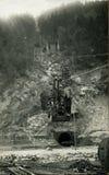 1930位古色古香的矿工原来的照片 库存照片