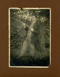 1930古色古香的猎人原来的照片 免版税库存图片
