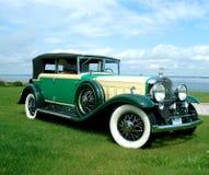 1930年卡迪拉克敞篷车的期初弗利特伍德 免版税库存图片