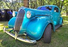 1930旧车改装的高速马力汽车s深青色 库存照片