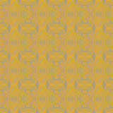 1930 art deco floral vector seamless pattern. 1930s geometric art deco pattern in mustard yellow colors, seamless vector background. Texture for print, textile Royalty Free Stock Image