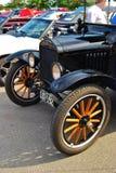 1930 Ford nero T che fa un giro del particolare fronte Fotografia Stock Libera da Diritti