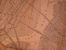 1930 mapę obszarów ny Obraz Royalty Free