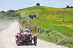 A 1930 red ALFA ROMEO 6C 1750 Gran Sport Stock Photography