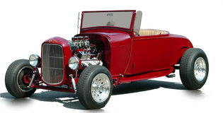 1930's Classic Car Hi Boy. Classic Hi Boy all decked out with chrome engine Royalty Free Stock Photo