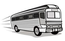 1930s coach bus. Vector art of a 1930s coach bus retro style Stock Image