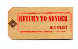 1930s grunge return sender style tag to Στοκ εικόνα με δικαίωμα ελεύθερης χρήσης