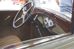 1931年福特城镇轿车内部 免版税库存照片
