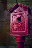 1931 alarma pożarniczy rocznik Zdjęcie Royalty Free