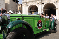 1931 built green TALBOTat 1000 Miglia Royalty Free Stock Images