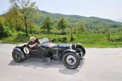 1931 schwarzes Alfa Romeo 8C 2300 Le Mans Lizenzfreie Stockfotos