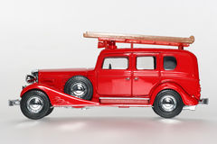 1933年卡迪拉克汽车经典发动机起火sideview玩具 图库摄影