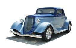 1933年小轿车浅滩标尺街道 图库摄影