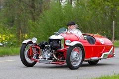 1933年摩根体育运动超级三轮车葡萄酒 图库摄影