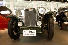 1933年汽车l1优秀大学毕业生mg葡萄酒年 图库摄影